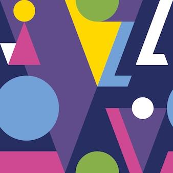 Modernes abstraktes geometrisches nahtloses muster.