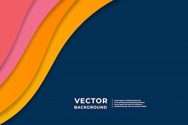 Modernes abstraktes geometrisches papier schnitt blauen hintergrund