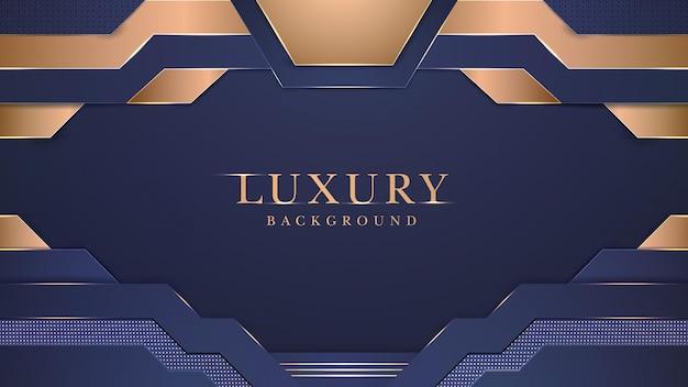 Modernes abstraktes gold-elegantes luxushintergrund-design Premium Vektoren