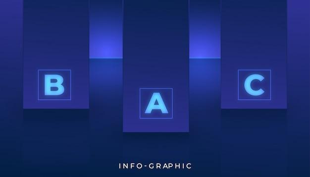 Modernes abstraktes informationsgraphikdesign