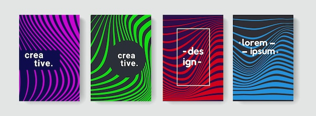Modernes abstraktes muster mit linearer textur für broschüren, cover, poster, banner, flayer.