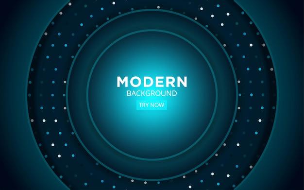 Modernes abstraktes premium-blaues hintergrunddesign mit blauen strahlen und linie in punktbeschaffenheit.