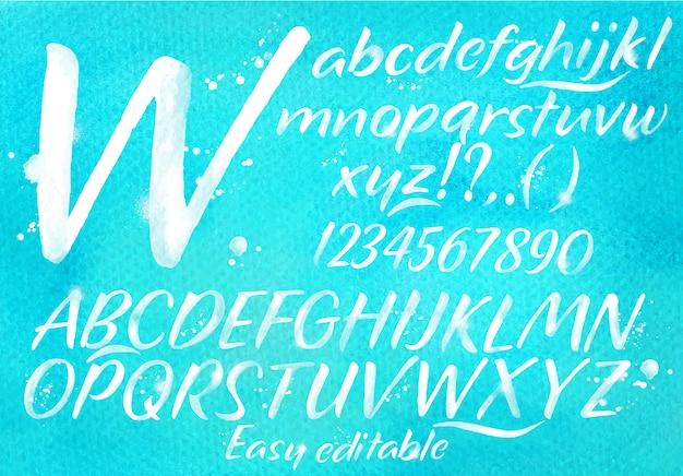 Modernes alphabet blau
