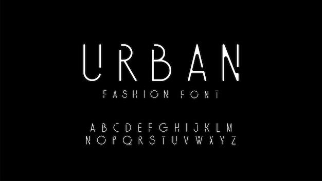 Modernes alphabet der städtischen mode. designs für das logo