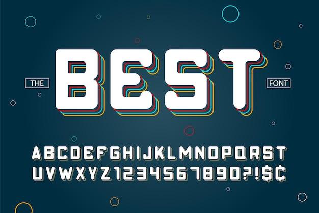 Modernes alphabet, farbfeldsteuerung für farbfelder, abc