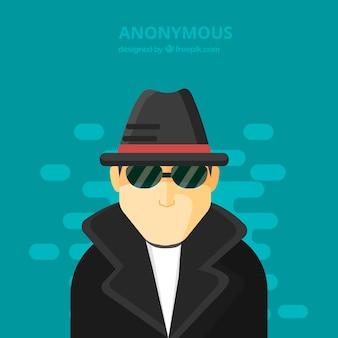 Modernes anonymes konzept mit flachem design