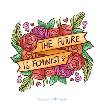 Modernes Aquarell Feminismus Konzept