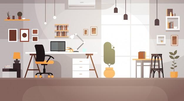 Modernes arbeitsplatz-kabinett-raum-innenraum leeres kein leute-haus