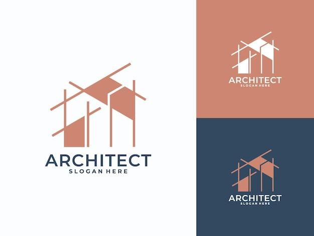 Modernes architekturlogo, bau, architekt, gebäudelogo