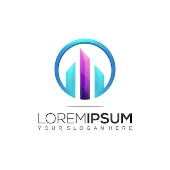 Modernes bau logo design