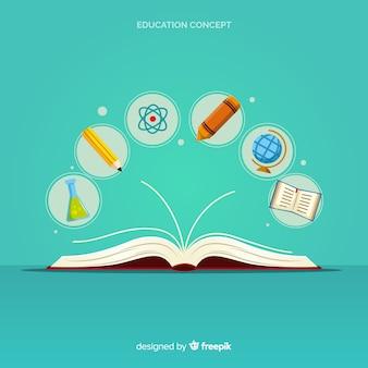 Modernes Bildungskonzept mit flachem Design