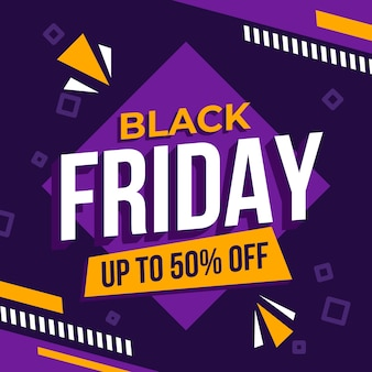 Modernes black friday banner