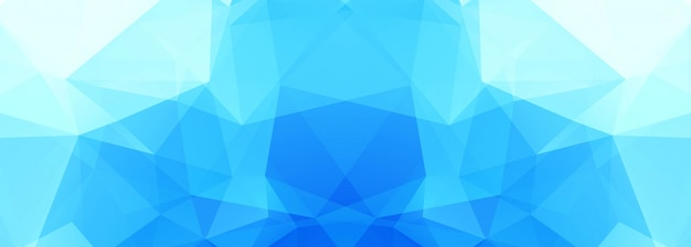 Modernes blaues polygonbanner