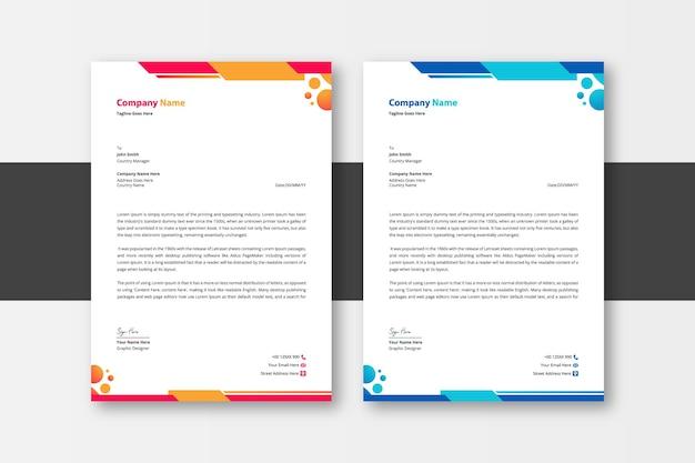 Modernes briefpapier des unternehmens