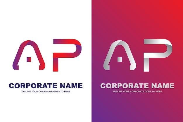 Modernes buchstabe ap logo