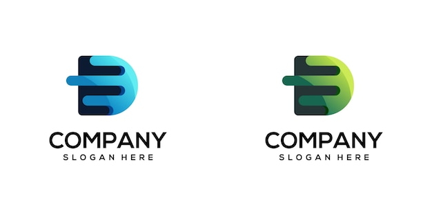 Modernes buchstabe d logo design