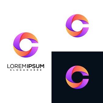 Modernes buchstaben-c-logo-design