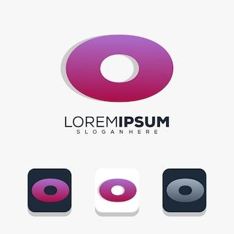 Modernes buchstaben-o-logo-design