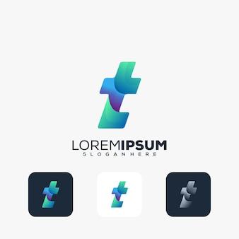 Modernes buchstaben t-logo-design