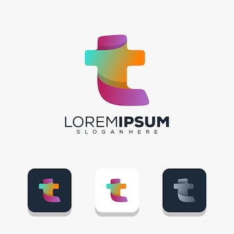 Modernes buchstaben-t-logo-design