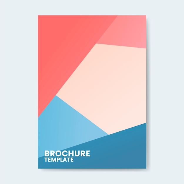 Modernes buntes broschürenschablonendesign