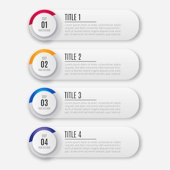 Modernes buntes Geschäft Infographik