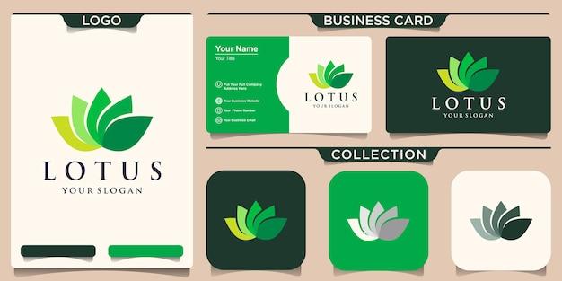 Modernes buntes lotusblumen-logo Premium Vektoren