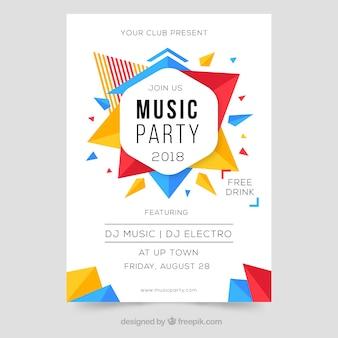 Modernes buntes plakatdesign für musikfestival