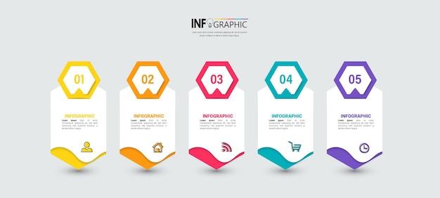 Modernes business-infografik-template-design