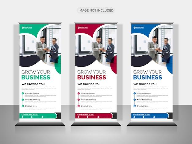 Modernes business roll-up-banner-design oder pull-up-banner-design