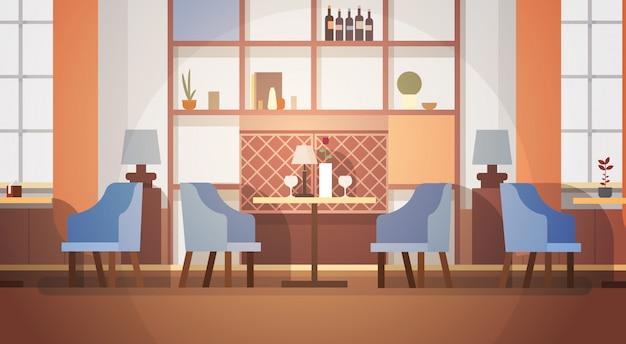 Modernes café-innenraum leeres kein leute-restaurant