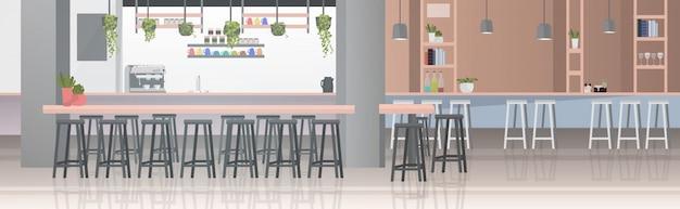 Modernes cafe interieur leer kein menschen restaurant mit möbeln