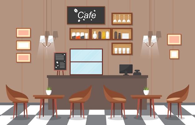 Modernes café-kaffeestube-innenmöbel-restaurant