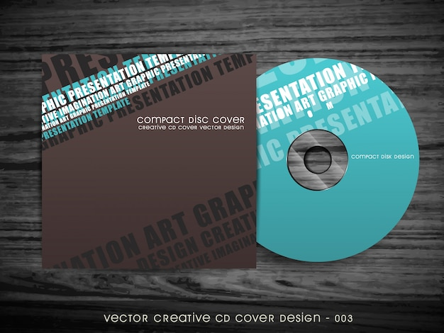 Modernes cd abdeckungsentwurf