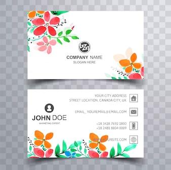 Modernes colroful Blumengeschäftskarten-Bühnenbild