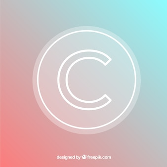 Modernes copyright-symbol