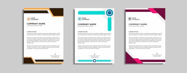 Modernes corporate briefkopf-vorlagendesign