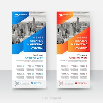 Modernes corporate business company rollup banner template design