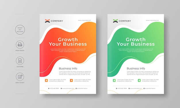 Modernes corporate flyer poster und buchcover design