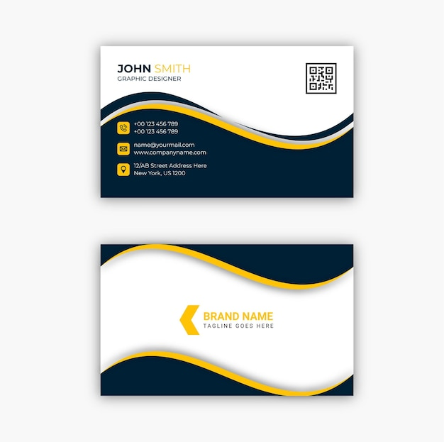 Modernes corporate visitenkarten-vorlagendesign