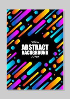 Modernes cover-hintergrunddesign mit dynamischen formen