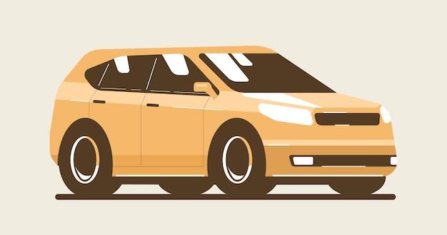 Modernes cuv-auto isoliert. vektorgrafik im flachen stil.