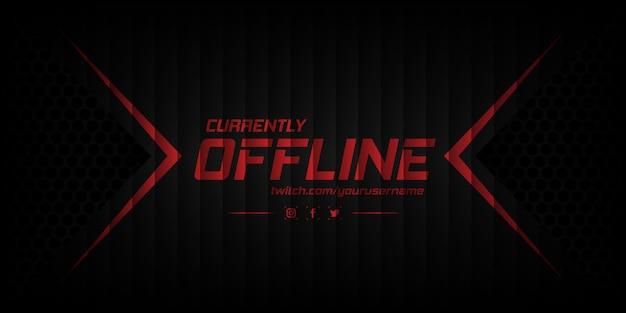 Modernes derzeit offline banner mit abstraktem hintergrund