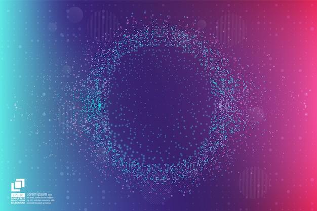 Modernes design des abstrakten hintergrundes des partikels und des staubes mit kopienraum