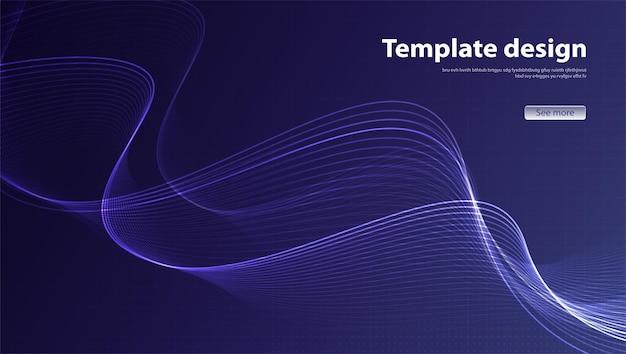 Modernes design des abstrakten hintergrundes. landingpage. vorlage für websites oder apps-vektordesign.