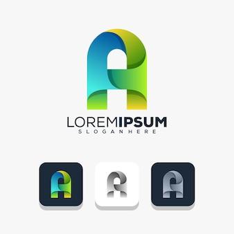 Modernes design für buchstaben und logos