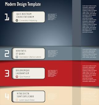 Modernes design-layout