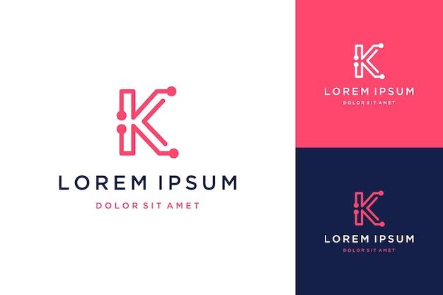 Modernes design logo oder monogramm oder initialen k