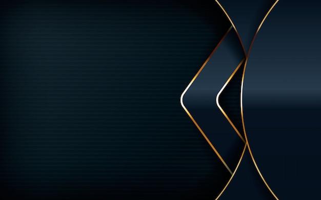 Modernes design mit hellgoldener linie