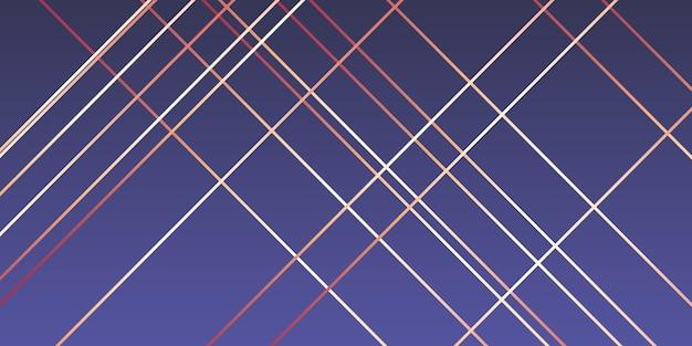 Modernes design mit roségoldenen linien